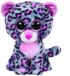 Ty Tasha the Grey & Pink Leopard Beanie Boos Stuffed Animal Plush Toy