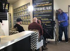 Makin' movies at Keep Oregon Well HQ. 🎥  #MentalHealthMatters