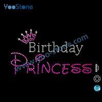 Beautiful Birthday Princess Motif Rhinestone Wholesale cea6a5e660ce