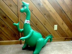 RARE Sinclair Dino Gasoline Station Gas Sign Dinosaur Inflatable Vintage 1960S   == Wonder what happened to our blow up Dino the Sinclair dinosaurs.   We were so proud of them.