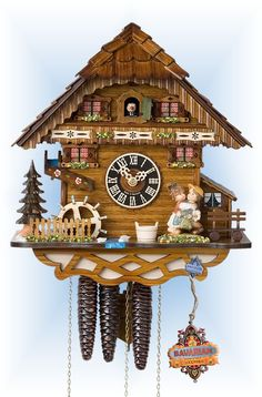 Hones Kissing Cousins cuckoo clock 12'' - Bavarian Clockworks