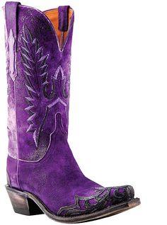 PURPLE PURPLE PURPLE Western Cowboy Boots I Love #Purple #Boots