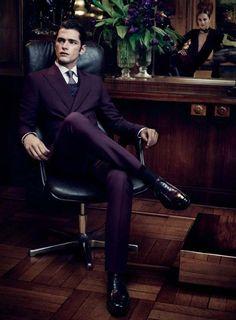 Purple suit. I love it