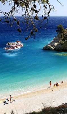 Beach at Karpathos island ~ Greece Places To Travel, Places To See, Places Around The World, Around The Worlds, Myconos, Beau Site, Creta, Greece Islands, Greece Travel