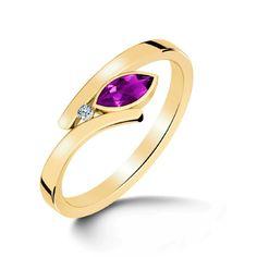 Mystique Amethyst Gold Ring