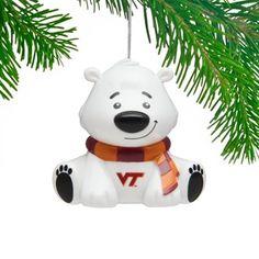 Virginia Tech Hokies Polar Bear Ornament