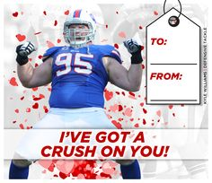 Send love to your favorite Bills crush with our Bills Valentines!