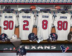 Houston Texans NFL Football - Personalized Locker Room Print   Picture.  Have you or someone 26f51222b