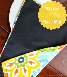 10 Minutes Place Mat for Beginners - great for Hallie to learn how to sew.