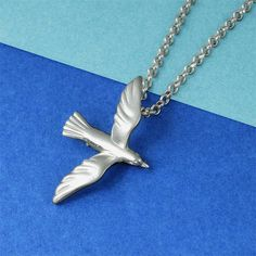 Seagull Bird Necklace Sterling Silver #seagull #seagullnecklace #seagulljewelry
