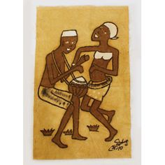 utopiajdesigns.com: African Mud Painting : Dance To The Beat  [AC-M604]  $19.90