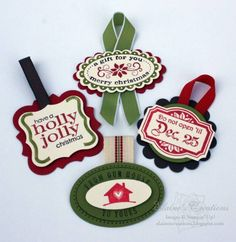Christmas Gift Tag Box by eschader - Cards and Paper Crafts at Splitcoaststampers