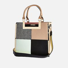 Pink patchwork tote handbag - shoppers / tote bags - bags / purses - women | Sparkliq - Fashion . Trends . Shopping - All in one place