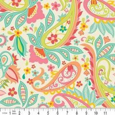 Zoe Pearn for Riley Blake Sweet Cream Paisley 1 by skyerevefabrics