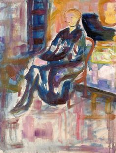 The Athenaeum - Seated Young Woman (1916) (Edvard Munch - )