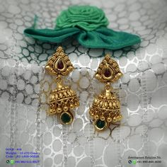 No automatic alt text available. No automatic alt text available. Gold Jhumka Earrings, Indian Jewelry Earrings, Jewelry Design Earrings, Gold Earrings Designs, Bridal Jewellery, Jewellery Designs, Jewelry Patterns, Gold Jewellery, Gold Ring Designs
