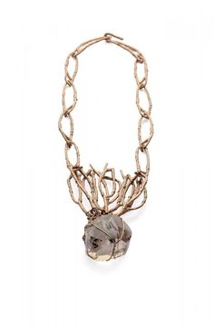 Iris Bodemer - necklace, 2010, bronze, copper, citrine