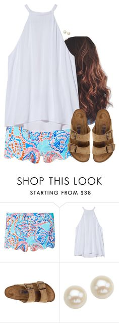 """"" by aweaver-2 on Polyvore featuring Lilly Pulitzer, A.L.C., Birkenstock and Honora"