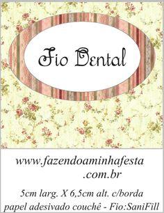 Molde Fio Dental Sanifil - Kit Toilet Banheiro Vintage Floral: