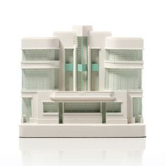 Hoover Building Model. Product Shot Front View. Architectural Sculpture by Chisel & Mouse