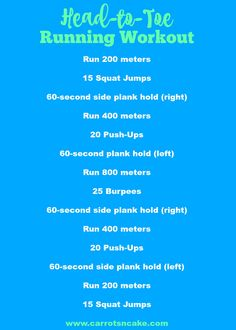 Head-to-Toe Running Workout