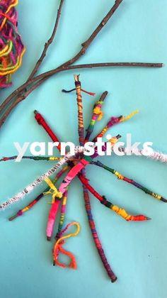 Easy Crafts For Teens, Yarn Crafts For Kids, Adult Crafts, Craft Stick Crafts, Preschool Crafts, Fun Crafts, Easy Yarn Crafts, Arts And Crafts For Adults, Craft Ideas