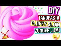 TANDPASTA FLUFFY SLIJM ZONDER LIJM, SCHEERSCHUIM, MAIZENA, WASMIDDEL OF STIJFSEL! - YouTube