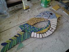Mosaico sobre chapa