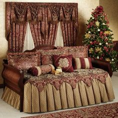 Palatial Ruffled Flounce Daybed Bedding Set - Bedding Set - Ideas of Bedding Set - Palatial Daybed Set Daybed Comforter Sets, Daybed Room, Daybed Sets, Daybed Covers, Duvet Covers, King Comforter, Comforters, Cheap Bedding Sets, Cheap Bed Sheets