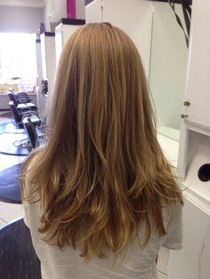 Love this long layered hair cut.