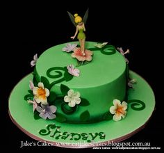 Jake's Cakes: Tinkerbell Cake