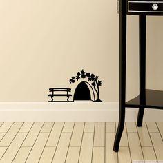 Stickers pour les bébés - Sticker trou de souris à la rose | Ambiance-sticker.com
