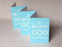 Cards Dare to Believe Aqua Dare Believe God is in by Inspireuart, $9.00