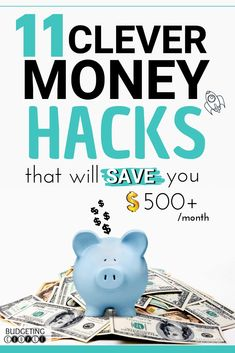 Use these suprisingly simple 11 money hacks to start saving money and making money every month guranteed! Plus genius hacks to get free money on autopilot! Save money without trying and make money from your phone ALL with these epic life hacks! Best Money Saving Tips, Money Tips, Saving Money, Money Hacks, Money Budget, Save Money On Groceries, Ways To Save Money, How To Make Money, Life Hacks
