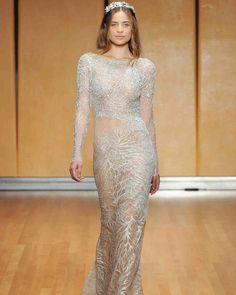 Inbal Dror Fall 2017 Wedding Dress Collection | Martha Stewart Weddings – Long-sleeve sheath wedding dress