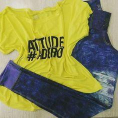 Blusinha colors e calça fake jeans, já temos o look completo para você treinar hoje, então sem desculpas 👊👊 #artstilo #euuso #euamo