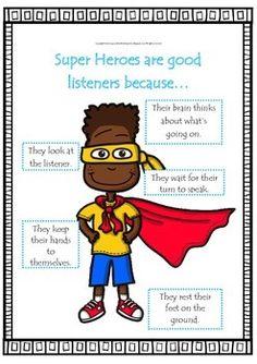Classroom Management Idea- Super Heroes by Neha Chopra Superhero Kindergarten, Superhero School, Superhero Classroom Theme, Superhero Kids, Kindergarten Classroom, Classroom Themes, Superhero Labels, Elementary Counseling, Career Counseling