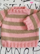 Easy As ABC long sleeve baby sweater