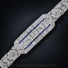 Art Deco Diamond and Sapphire Bracelet, ca. 1930s
