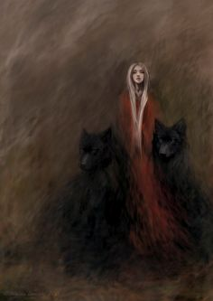 The lady of the black wolves forest by endzi-z.deviantart.com on @DeviantArt