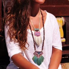 Red Necklace with Fringe