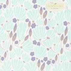 """CLOUD9 Bio Baumwolle """"Breezy Floral Turquoise"""" von Eulenmeisterei - Biostoffe auf DaWanda.com"""
