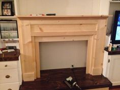 How I built a faux fireplace using Ana White's plans.