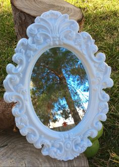 Through the Looking Glass Alice in Wonderland Birthday Party Decorations Decor Tea Party Mad Hatter Onederland Ornate White Mirror by MadInWonderland on Etsy https://www.etsy.com/listing/263189418/through-the-looking-glass-alice-in