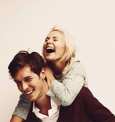 Clare Bowen & Sam Palladio - Nashville but seriously they are Camryn and Andrew from The Edge of Never for me!!