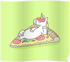 Unicorn Pizza Poster