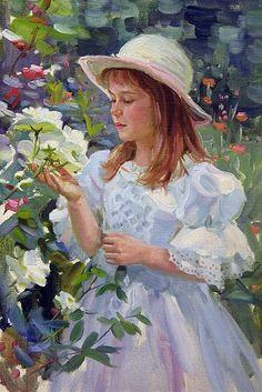 Alexander Averin - La Jeune Fille et les Roses