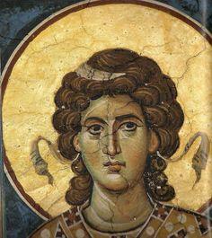 Fresco, Byzantine Icons, Byzantine Art, Religious Icons, Religious Art, Gabriel, Order Of Angels, Religion Catolica, Best Icons