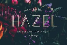Hazel Deco Font by Swell & Grand on @creativemarket