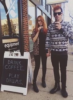 Debby Ryan and Josh Dun. Aww.<<< they were so cute, I really hope he has another relationship like there's, whether it's with her again or not
